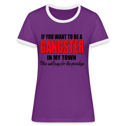ville gangster - T-shirt contrasté Femme