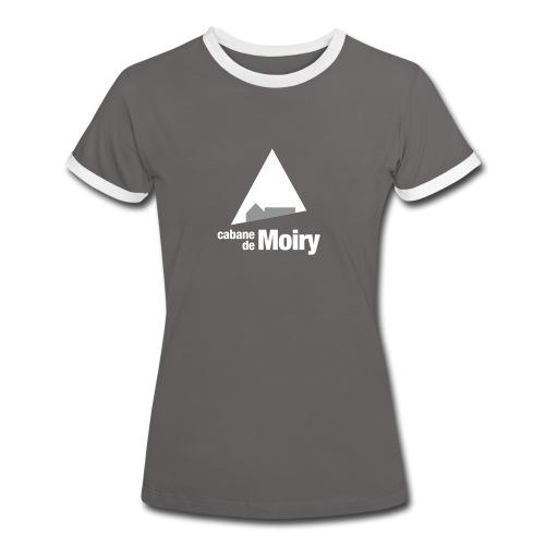 cabanemoirylogo50mm - T-shirt contrasté Femme