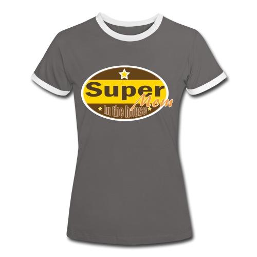 Super Mom - Vrouwen contrastshirt