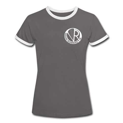 VeganRunners Logga gif - Kontrast-T-shirt dam