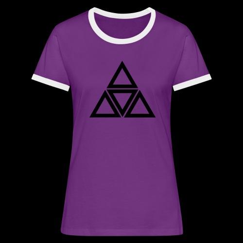 triangle - Maglietta Contrast da donna