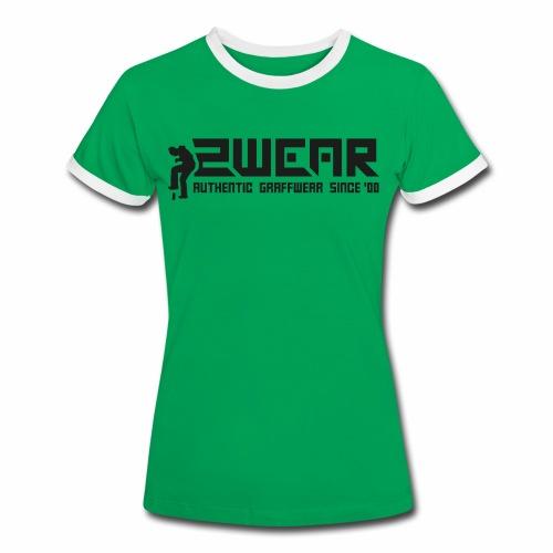 2wear org tagline logo blk - Dame kontrast-T-shirt