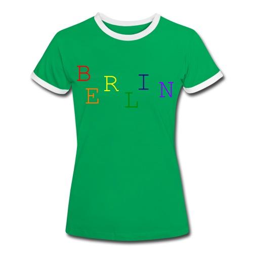Berlin Rainbow #1 - Frauen Kontrast-T-Shirt