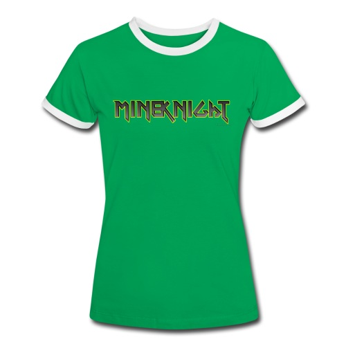 MineKnight mugg - Kontrast-T-shirt dam