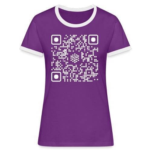 QR Safenetforum White - Women's Ringer T-Shirt