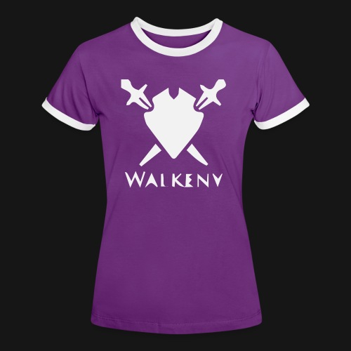 Walkeny Schwert Logo! - Frauen Kontrast-T-Shirt