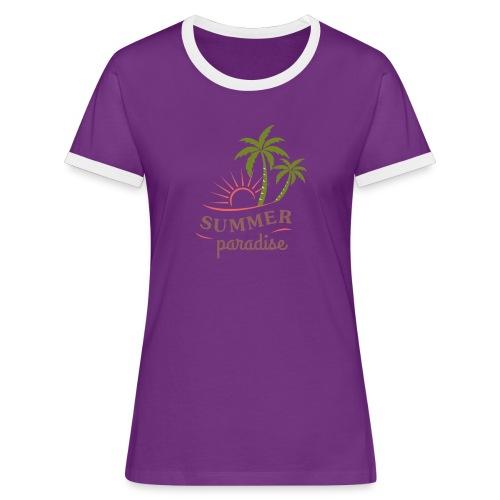 Summer paradise - Women's Ringer T-Shirt
