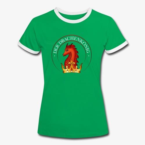 Drachenkoenig Logo - Frauen Kontrast-T-Shirt