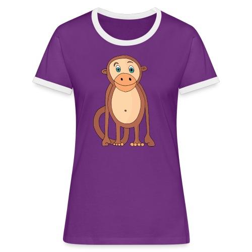 Bobo le singe - T-shirt contrasté Femme