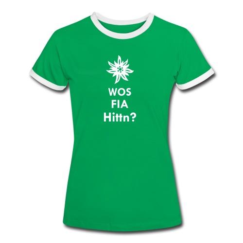 WOS FIA Hittn? - Frauen Kontrast-T-Shirt
