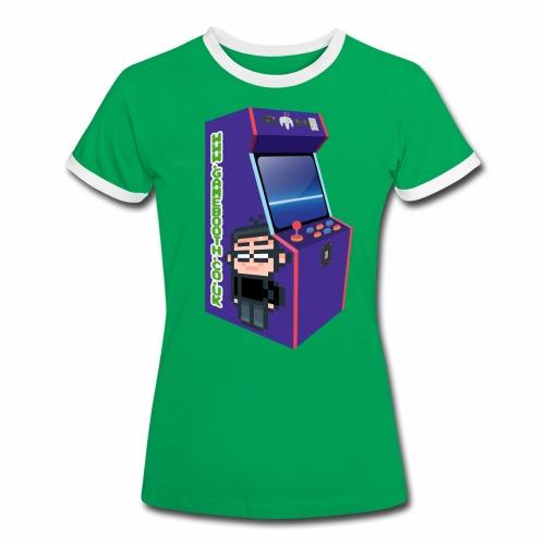 Game Booth Arcade Logo - Women's Ringer T-Shirt
