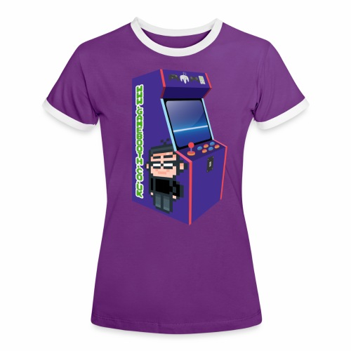 Game Booth Arcade Logo - Women's Ringer T-Shirt