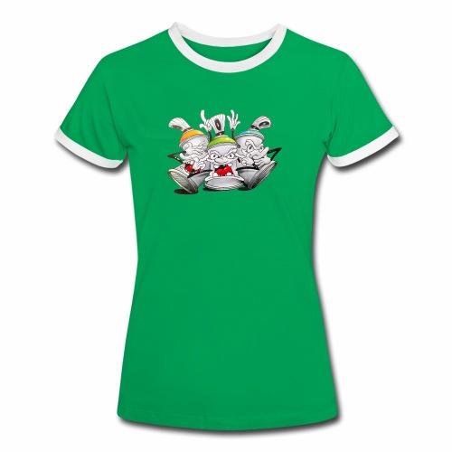 Dont ! Tim Timmey - Dame kontrast-T-shirt