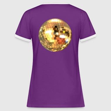 3Demian_discobol glitter goud - Vrouwen contrastshirt