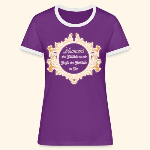 Namasté - Frauen Kontrast-T-Shirt