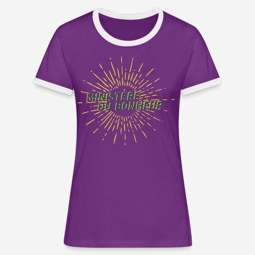 Ministère du Bonheur - T-shirt contrasté Femme