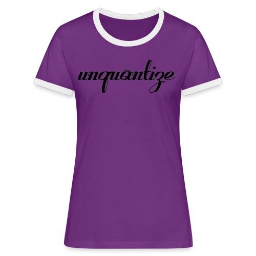 unquantize black logo - Women's Ringer T-Shirt