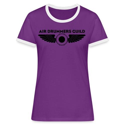 ADG Drum'n'Wings Emblem - Women's Ringer T-Shirt