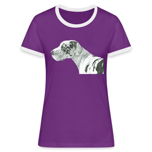 grand danios harlequin - Dame kontrast-T-shirt