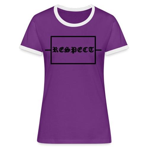Widerstand für RESPECT - Frauen Kontrast-T-Shirt