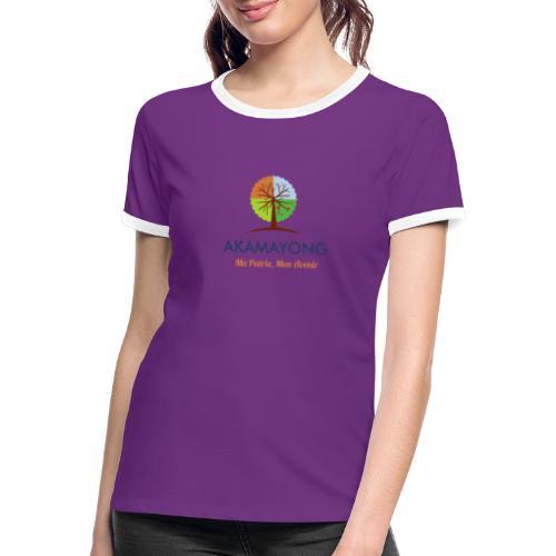 akamayong - T-shirt contrasté Femme