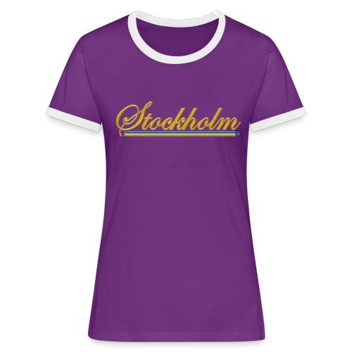 Stockholm - Kontrast-T-shirt dam