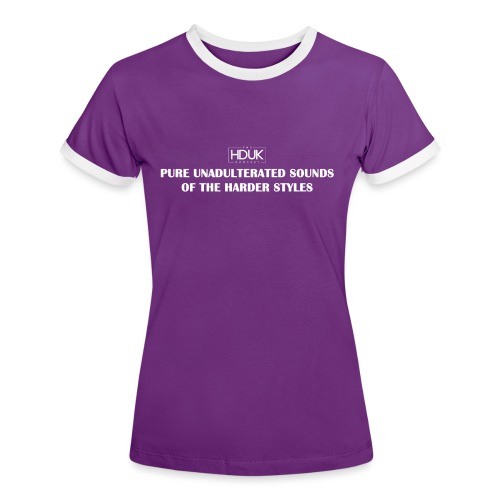 The HDUK Podcast - Pure Unadulterated - Women's Ringer T-Shirt