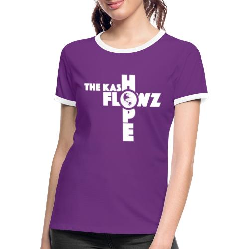 Hope Single Logo White - T-shirt contrasté Femme