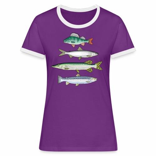 FOUR FISH - Ahven, siika, hauki ja taimen tuotteet - Naisten kontrastipaita