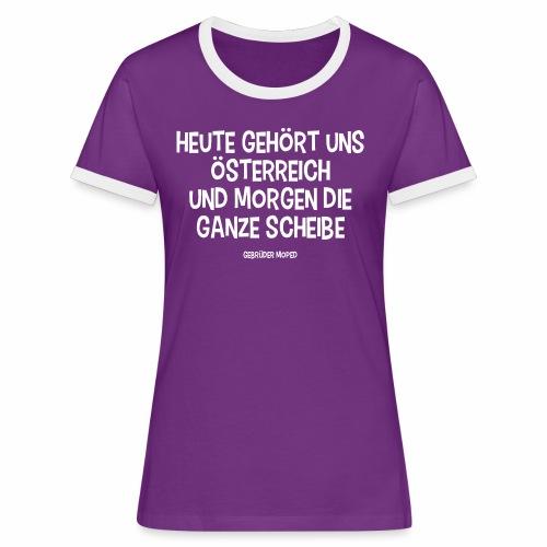 Scheibe Österreich - Frauen Kontrast-T-Shirt
