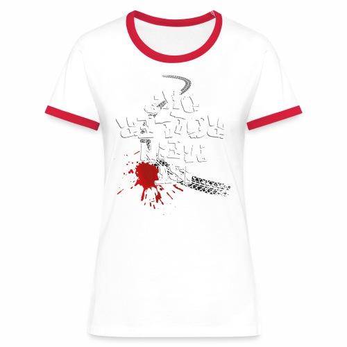 Ist mein Roller ok? (weißer Text) - Women's Ringer T-Shirt