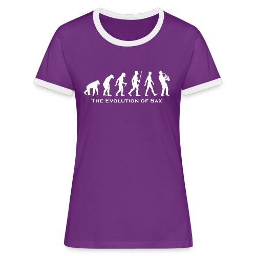 The Evolution Of Sax - Camiseta contraste mujer