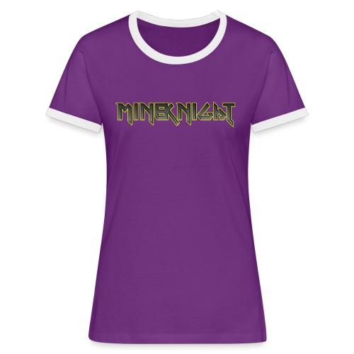 MineKnight T-shirt - Kontrast-T-shirt dam