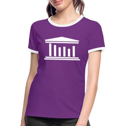 TST Logo White - Women's Ringer T-Shirt