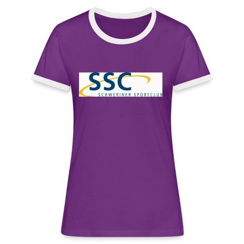 ssclogo - Frauen Kontrast-T-Shirt