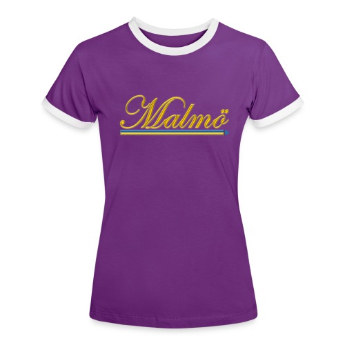Malmö - Kontrast-T-shirt dam