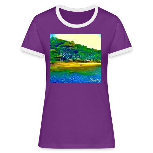 Tropical beach - Maglietta Contrast da donna