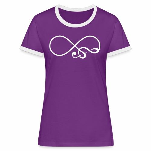 Unendlich Musik - Frauen Kontrast-T-Shirt