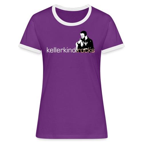 rocks logo full small - Frauen Kontrast-T-Shirt