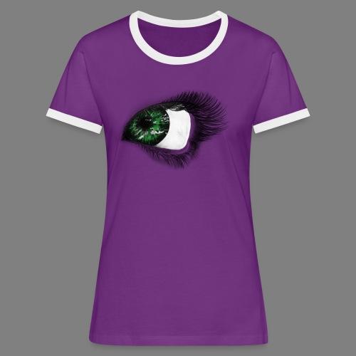 Auge 1 - Frauen Kontrast-T-Shirt