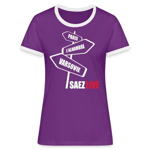 Varsovie (version light, par parek) - T-shirt contrasté Femme