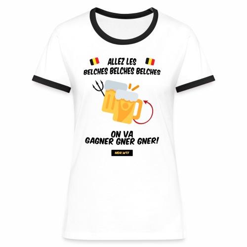 allez belge Par MDR.WTF - T-shirt contrasté Femme