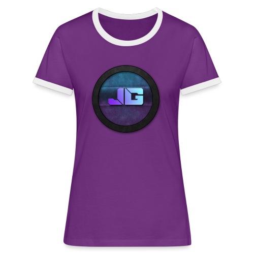 shirt met logo - Vrouwen contrastshirt