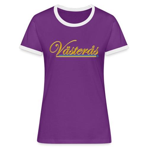 Västerås - Kontrast-T-shirt dam