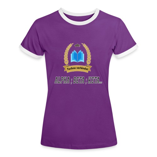 Techno verbindet - Frauen Kontrast-T-Shirt