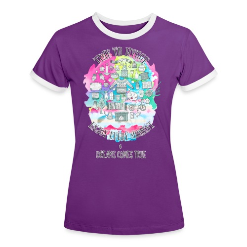 Time to Hygge - T-shirt contrasté Femme
