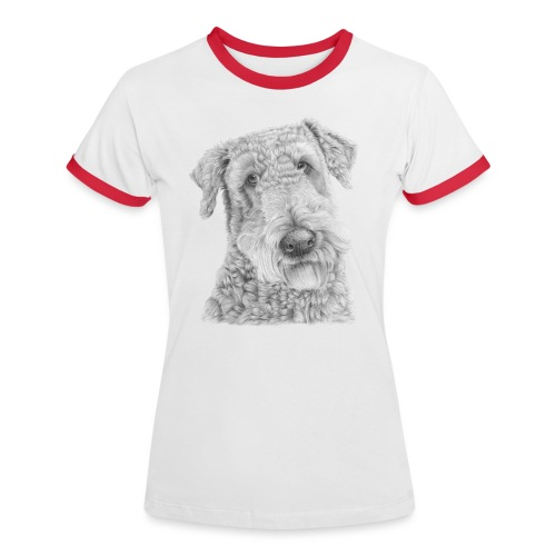 airedale terrier - Dame kontrast-T-shirt