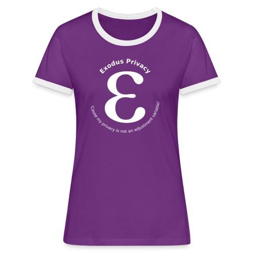 Exodus privacy avec Logo et slogan - T-shirt contrasté Femme
