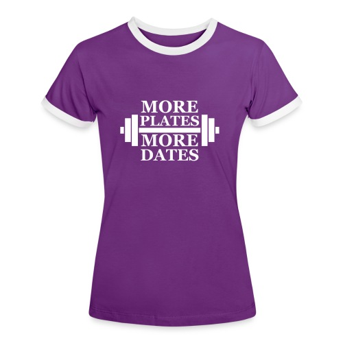 plates - Dame kontrast-T-shirt