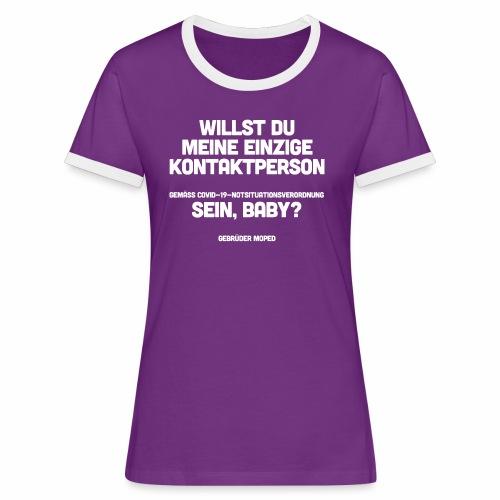 Kontaktperson - Frauen Kontrast-T-Shirt